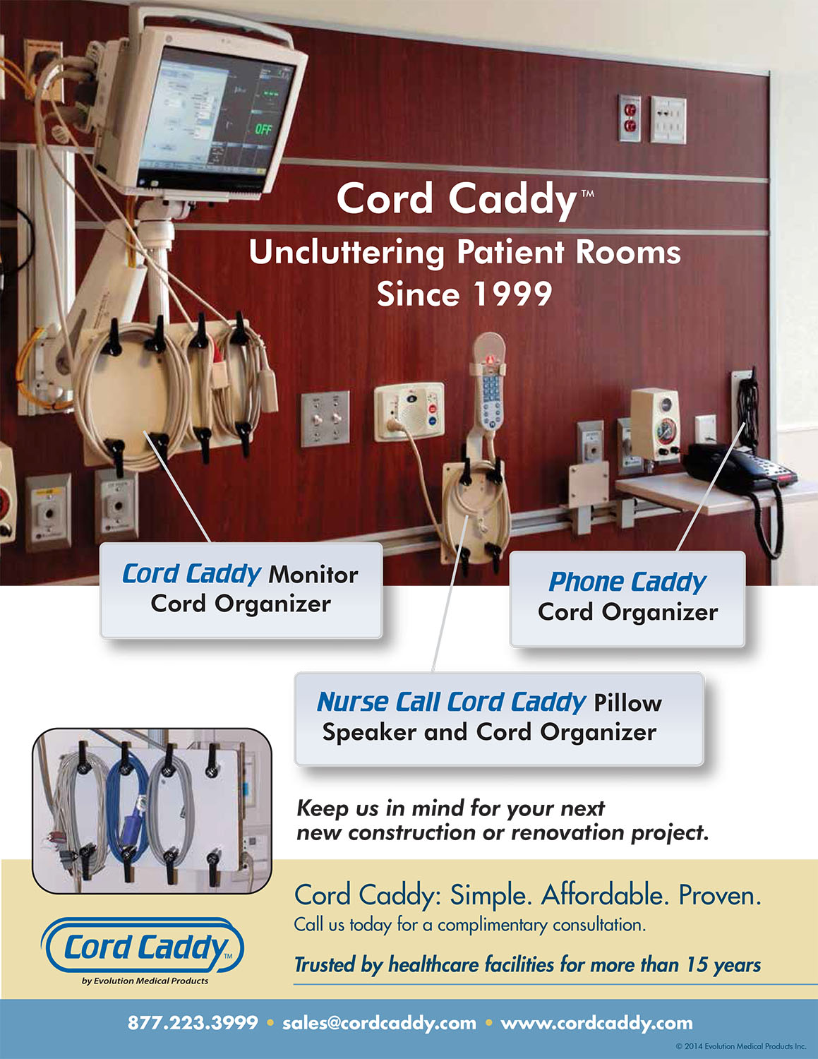 Cord Caddy | Uncluttering Patient Rooms Since 1999